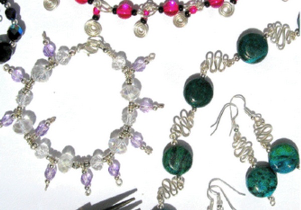 Make a Necklace and Earrings